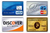 Visa MasterCard Discove American Express Accepted in 91501